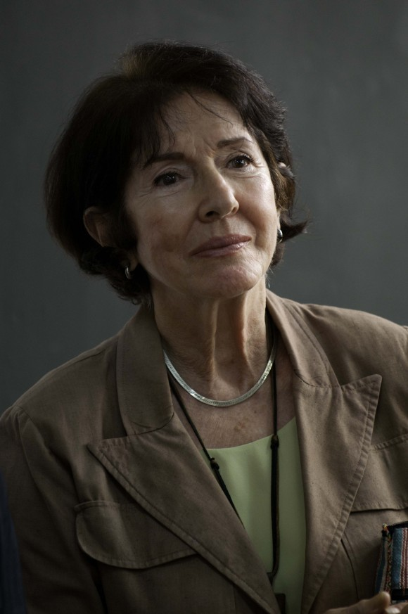 Marcia Leiseca en el encuentro de Fidel con intelectuales hispanoamericanos. Foto: Roberto Chile
