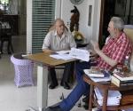 Fidel y Michel Chossudovski en La Habana. Foto: Estudios Revolución