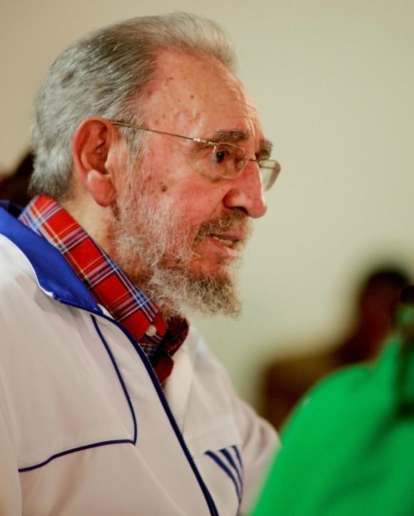 Fidel en el encuentro con los estudiantes universitarios. Foto: Alex Castro.