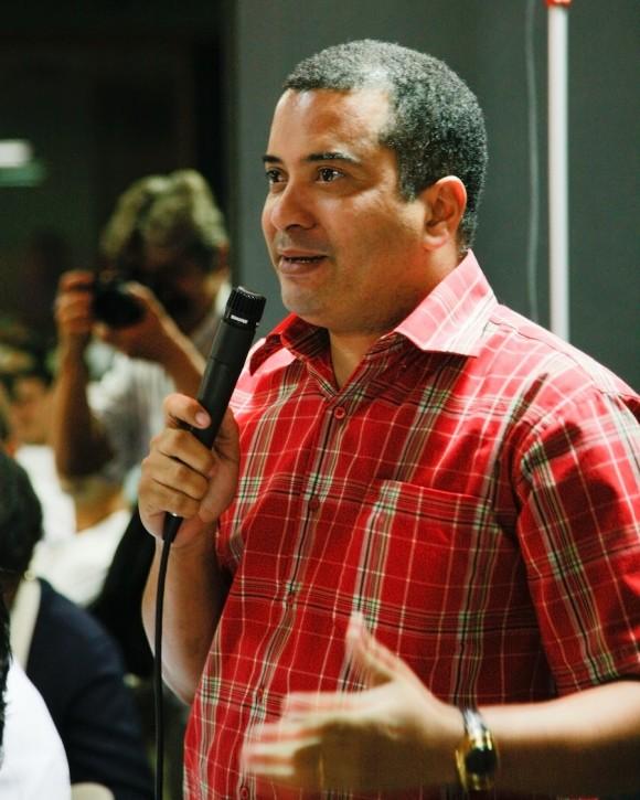 Jesús Rafael Mora, Secretario General de la Federación Mundial de Juventudes Democráticas. Foto: Alex Castro