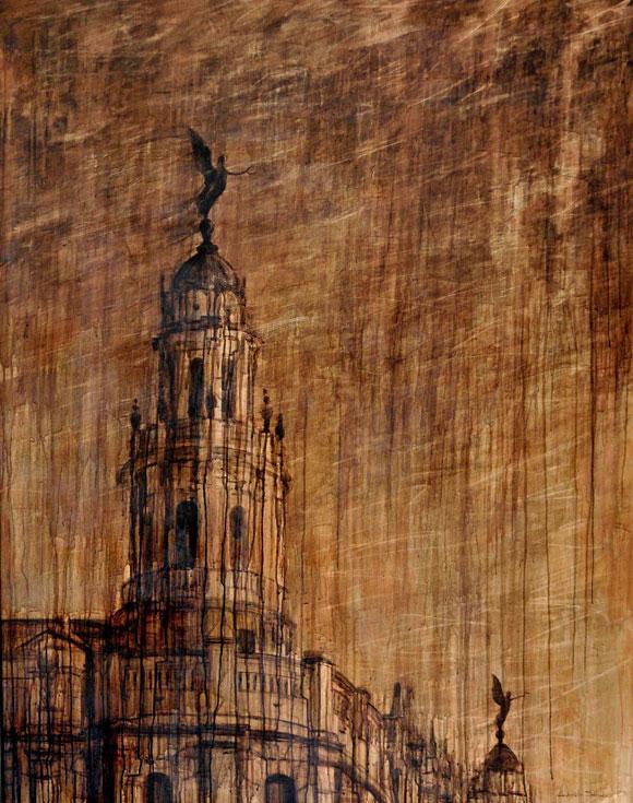 Gabriel Sánchez Toledo. Lo que el viento se llevó, Acrílico sobre tela 146 cm x 114 cm, 2009