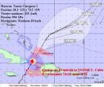Huracán Tomás a su paso por el sur del oriente cubano