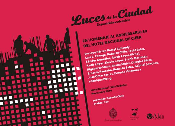 Exposición Luces de Ciudad en homenaje al 80 aniversario del Hotel Nacional de Cuba