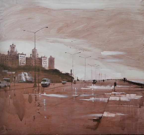 Luis E. Camejo. S_T Acrílico sobre tela 140 X 150 cm, 2010