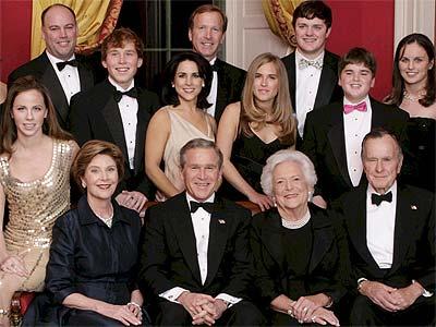 Miembros de la familia Bush.