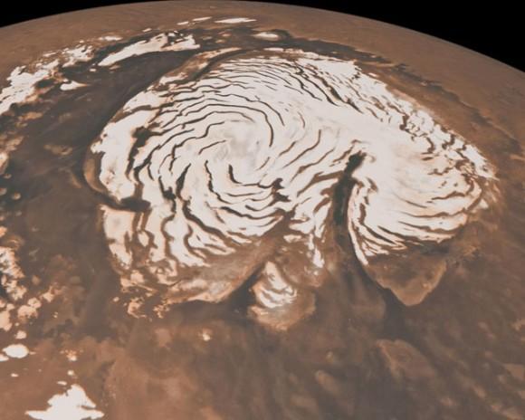 Imagen del planeta Marte publicada en el portal web de la Nasa