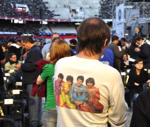 McCartney y su banda en Argentina. Foto: Kaloian
