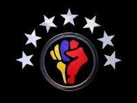 Logo Otpor con elementos de la bandera venezolana