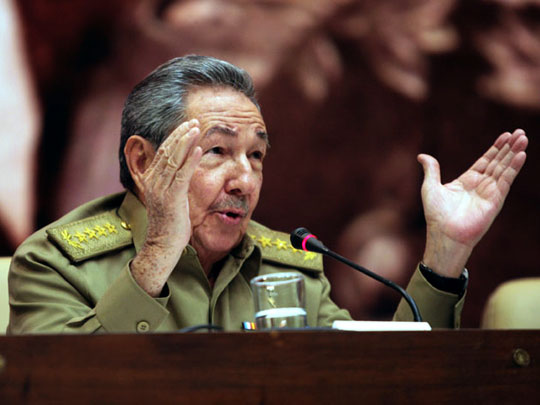 Raúl en el Palacio de las Convenciones. Foto: Prensa Presidencial Venezuela