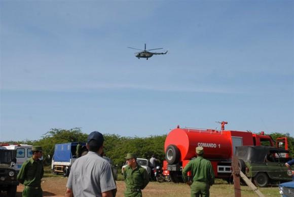 Rescatistas en el lugar del accidente. Foto: Escambrat