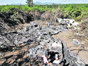 Vista aérea del lugar donde cayó el avión ATR de Aerocaribbean