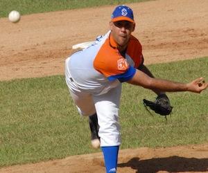 Ismel Jiménez, lanzador del equipo de Sancti SpíritusAIN FOTO/Oscar ALFONSO SOSA/are