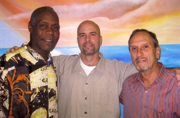 Danny Glover, Gerardo Hernández y Saúl Landau. Foto tomada el 23 de octubre de 2010. Foto de Cubadebate.