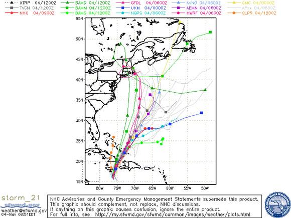 Tormenta tropical Tomás, 4 de noviembre de 2010