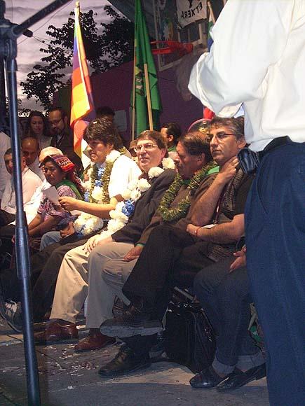 Evo Morales y Bruno Rodríguez. Foto: Aixa Hevia