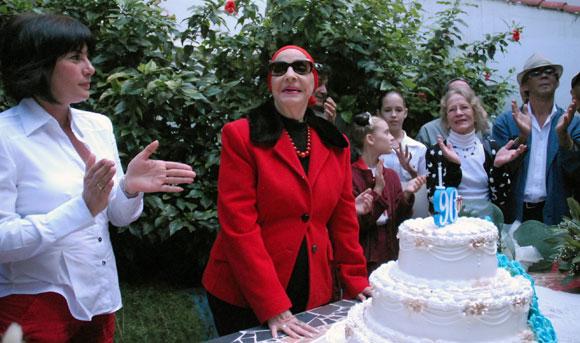 Alicia Alonso celebra su 90 cumpleaños. Foto: Sergio Abel Reyes
