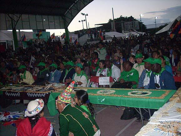El foro de Vía de Campesina. Foto: Aixa Hevia