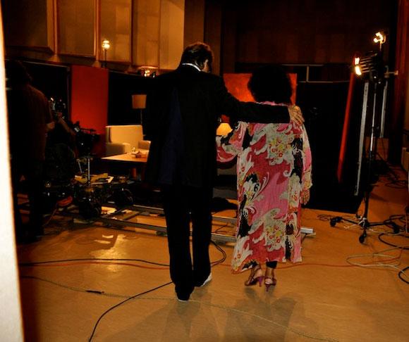 """Aurora Basnuevo con Amaury en los Estudios de Grabación del programa """"Con 2 que se quieran"""". Foto: Peti"""