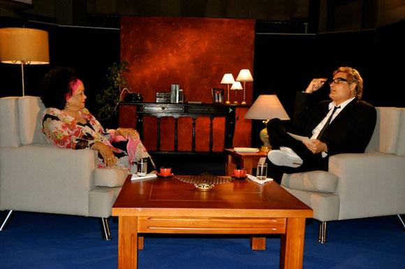 """Aurora Basnuevo y Amaury en el programa """"Con 2 que se quieran"""". Foto: Peti"""