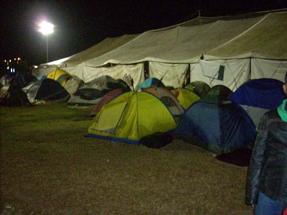 El campamento de Vía Campesina. Foto: Aixa Hevia