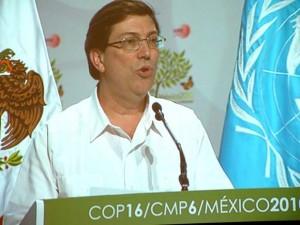 Canciller Cubano en Cumbre del Clima en Cancún. Foto: Félix Albisu.