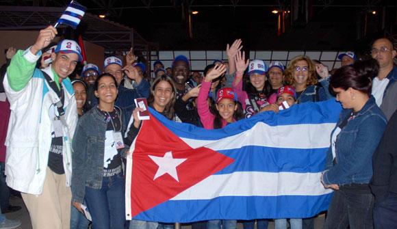 Delegación cubana al 17 Festival Mundial de la Juventud y los Estudiantes. AIN Foto: Oriol de la Cruz ATENCIO