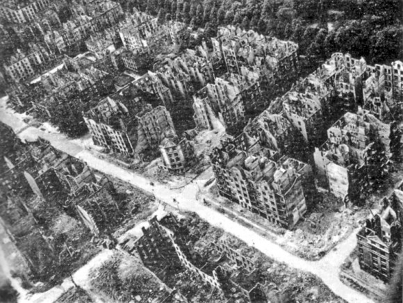 Hamburgo tras los grandes bombardeos que sufrió. Foto: Imperial War Museum.