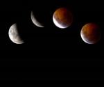 Eclipse lunar, madrugada del día 21 de diciembre de 2010. Foto: AFP