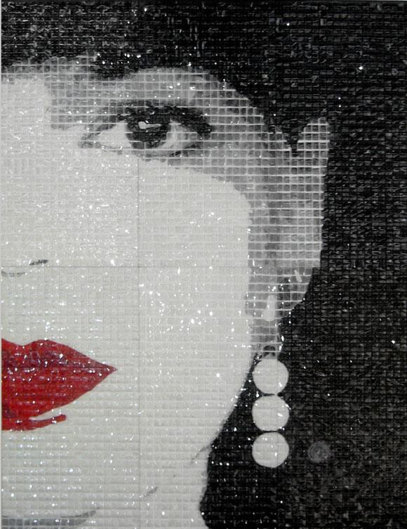 Aun te veo Serigrafía sobre acetato transparente 200 X 150 cm 2009. Mabel Poplet