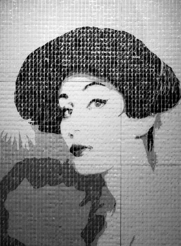 Norka 2010 Serigrafía sobre acetato transparente 240 X 183 cm 2010 Obra de la exposición colectiva Sencillamente KORDA. Mabel Poplet
