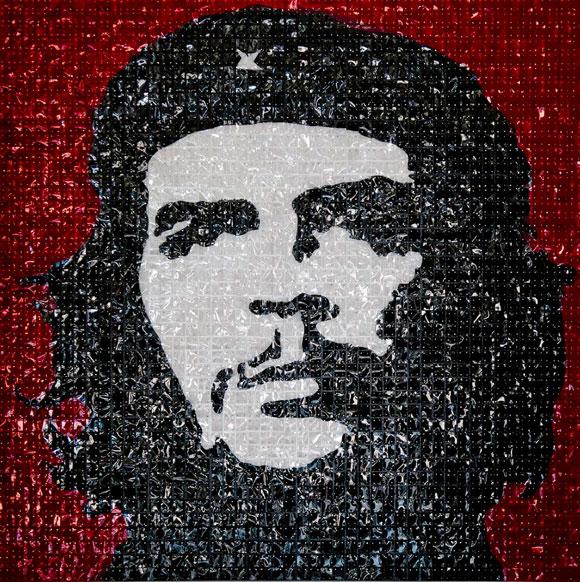 Che Guevara Técnica mixta 150 X 150 cm Obra de la exposición itinerante Proifecía 2010. Mabel Poplet