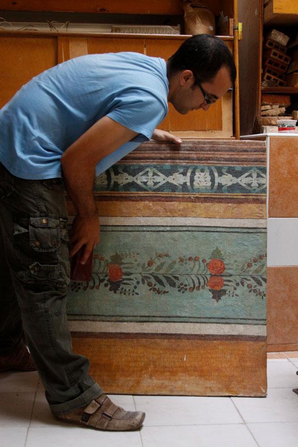 Diseños como este adornaban las paredes de las casas habaneras. Foto: Alejandro Ramírez