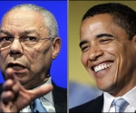 Collin Powell y Barack Obama