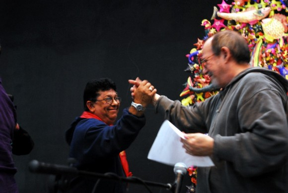 Silvio en la presentación del Premio de Creación. Foto: Iván Soca