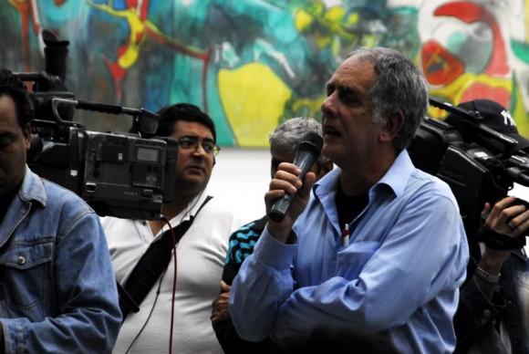 Guille Vilar en la presentación del Premio de Creación. Foto: Iván Soca