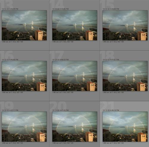 La secuencia de imágenes tomadas por Lisa.