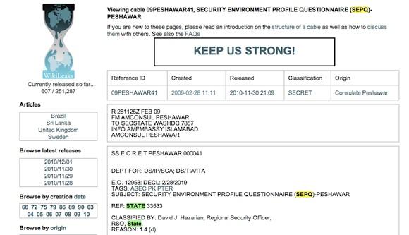 SEPQ emitido desde la Embajada de Islamabad