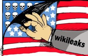 Caricatura sobre Wikileaks, sitio que publica archivos provenientes de informantes anónimos desde el 2007 y ha provocado airadas reacciones del gobierno de Estados Unidos. 15 de diciembre de 2010 .AIN CARICATURA/ Osvaldo GUTIERREZ GOMEZ