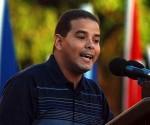 Yoerky Sánchez. Diputado al Parlamente Cubano y delegado al 17 Festival Mundial de la Juventud y los Estudiantes. Foto de archivo