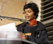 Con sentidas palabras homenajeó la embajadora de Sri Lanka a su par venezolano. Foto: Rafael González