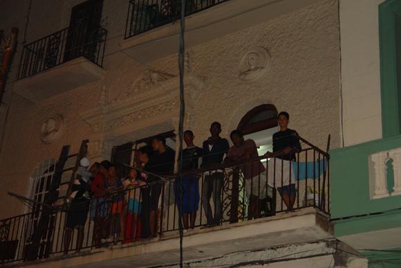 Desde los balcones también se participa