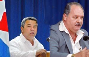 ULISES GUILARTE, PRIMER SECRETARIO DEL PARTIDO.  RAÚL RODRÍGUEZ, PRESIDENTE DE LA ASAMBLEA PROVINCIAL.