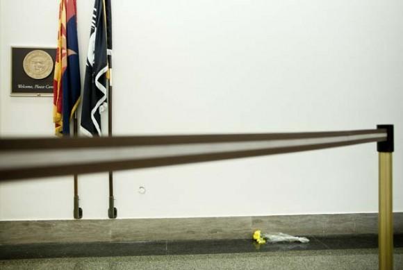 Lugar donde se produjo el tiroteo contra Gabrielle Giffords. Foto:AFP