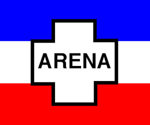 Bandera del Partido Arena, El Salvador