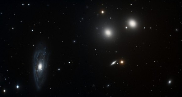 Parte de la constelación Hidra. Foto capturada en Paranal y modificada por el argentino Manuel Mejías