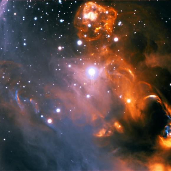 Imagen del grupo de estrellas NGC 1859, procesada por el ucraniano Sergey Stepanenko.