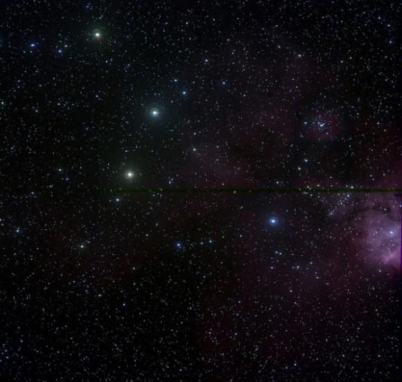 Área alrededor de la agrupación de estrellas NGC 2467, modificada por el chileno Javier Fuentes.