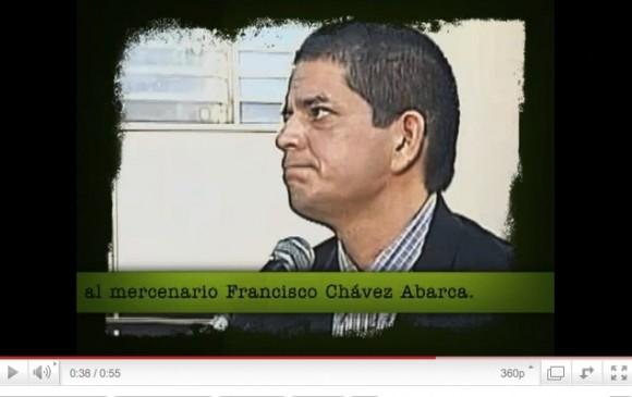 Francisco Chávez Abarca durante el juicio seguido en Cuba.