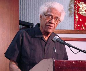 George Lamming. Foto: Embajada cubana en Barbados