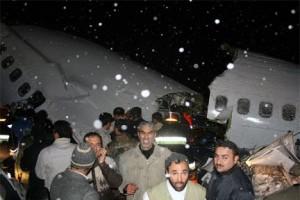 Las primeras imágenes del accidente en Irán.